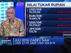 Rupiah Stabil, Cadev Juli 2019 Naik US$ 2,1 M
