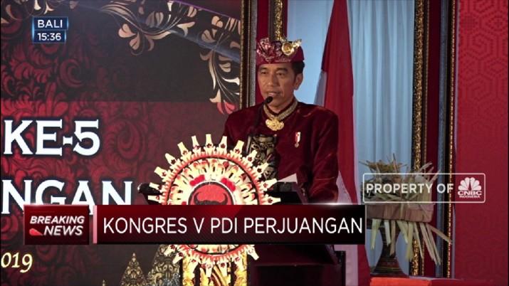 Pemeritah, kata Jokowi, akan fokus pada peningkatan kualitas SDM sebagai pondasi pembangunan ekonomi Indonesia.