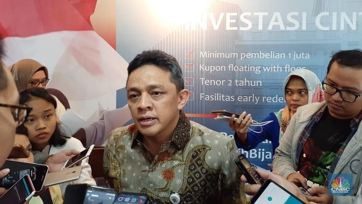 Direktur Jenderal Pengelolaan Pembiayaan dan Risiko, Luky Alfirman (CNBC Indonesia/Lidya Julita S)