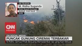 VIDEO: Puncak Gunung Ciremai Terbakar