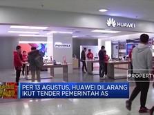 Makin Galak, AS Larang Huawei Terlibat Proyek Federal