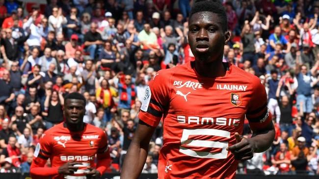 Watford menciptakan rekor pembelian klub setelah mendatangkan winger Rennes Ismaila Sarr dengan 25 juta poundsterling. (DAMIEN MEYER / AFP)