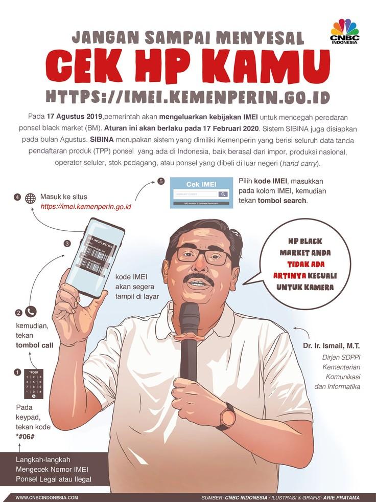 Setelah aturan ini berlaku, ponsel Black Market (BM) atau ilegal tidak bisa lagi beroperasi.