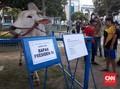 Jokowi Kurban Sapi 1 Ton di Surabaya