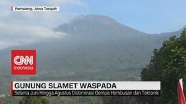VIDEO: Gunung Slamet Waspada