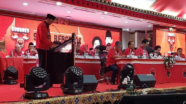 Ketua DPD Jambi Bacakan Rekomendasi Kongres PDIP