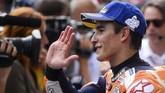 Marc Marquez merebut pole ketiga beruntun di MotoGP Austria dan pole ketujuh di MotoGP 2019. (VLADIMIR SIMICEK / AFP)