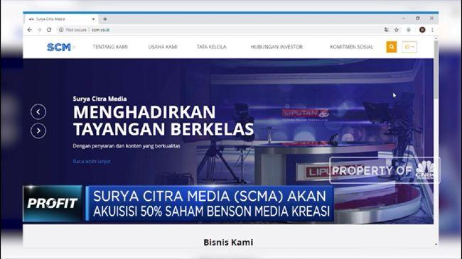 SCMA Surya Citra Media Beli 50% Saham Benson