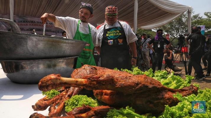 Ini Ribuan Boks Masakan Daging Kurban Hotel Bintang Lima DKI