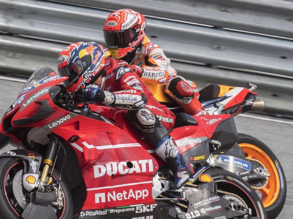Dovizioso Menangi Balapan Sengit dengan Marquez di MotoGP Austria