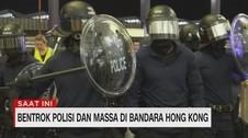 VIDEO: Bentrok Polisi & Massa di Bandara Hong Kong