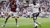 Tanguy Ndombele (22 tahun) berhasil mencetak gol pada laga debutnya bersama Tottenham Hotspur di Liga Inggris. Ndombele mencetak satu gol saat The Lilywhites mengalahkan Aston Villa 3-1. (REUTERS/Eddie Keogh)