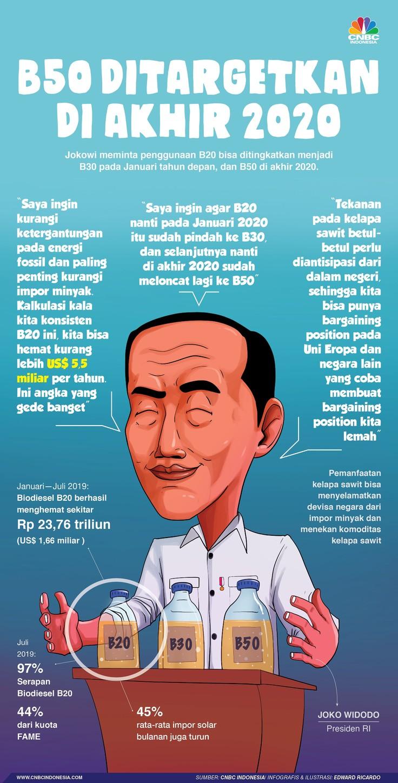 Peta Mimpi Jokowi, RI Loncat dari B20 ke B50