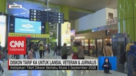 VIDEO: Diskon Tarif KA Untuk Lansia, Veteran & Jurnalis