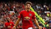 Daniel James melakoni debut impian saat mencetak gol bersama Manchester United di laga perdana Liga Inggris. Satu gol yang disumbangkan James membuat MU menang telak 4-0 atas Chelsea. (Reuters/Jason Cairnduff)