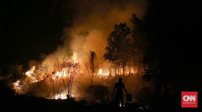Polres OKI Tangkap 4 Tersangka Pembakar Lahan untuk Kebun