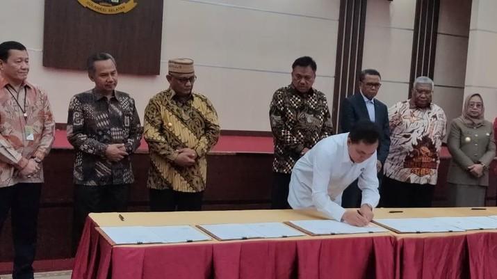 BPH Migas dan 6 Pemerintah Provinsi di Sulawesi menandatangani Kesepakatan Bersama (MoU).