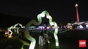 FOTO: Gemerlap Monas dalam 'Festival of Light'