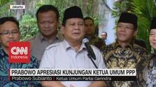 VIDEO: Prabowo Apresiasi Kunjungan Ketua Umum PPP