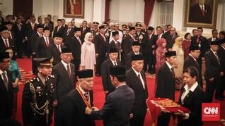 Pejabat BPK dan MA Panen Bintang Kehormatan dari Jokowi