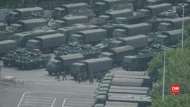 VIDEO: Paramiliter China Bersiaga di Perbatasan Hong Kong