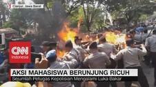 VIDEO: Aksi Mahasiswa Berunjung Ricuh di Cianjur