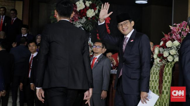 Sandi Mengaku Merasa Terhormat Disapa Langsung Jokowi