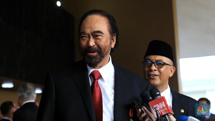 Surya Paloh bilang belum dikasih tahu soal jajaran menteri kabinet Jokowi