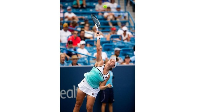 Di babak kedua Maria Sharapova harus menghadapi unggulan pertama asal Australia Ashleigh Barty. (Meg Vogel/The Cincinnati Enquirer via AP)