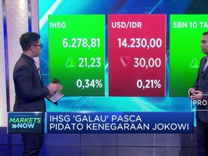 Pasar Respons Positif Pidato Jokowi, IHSG Masuk Zona Hijau