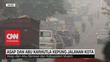 VIDEO: Gawat! Asap Pekat & Partikel Abu Bakaran Kepung Jambi