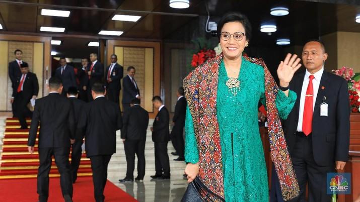 Dampingi Jokowi, Sri Mulyani Cs Tampil Gaya dengan Kebaya