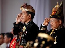 Pakai Baju Adat Bali Jokowi Pimpin Upacara Kemerdekaan RI
