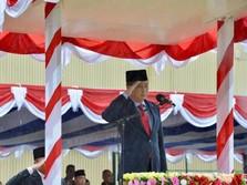 Saat Jonan Pimpin Upacara di Kawasan Tambang Freeport Papua