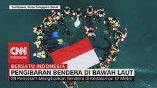 VIDEO: Pengibaran Bendera di Bawah Laut