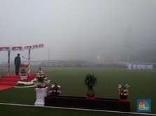 Jonan Pimpin Upacara di Ketinggian 2.000 dpl Tambang Freeport