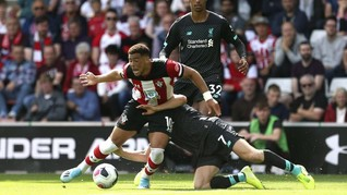 Hasil Liga Inggris: Liverpool Kalahkan Southampton 2-1