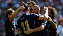 Hasil La Liga: 10 Pemain Real Madrid Hajar Celta Vigo 3-1