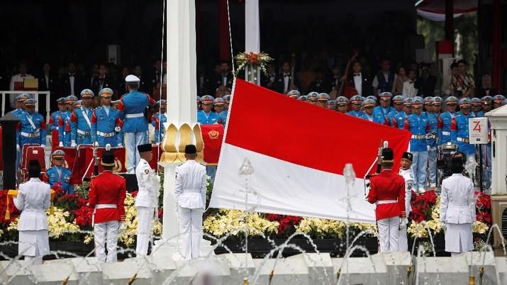 Upacara Penurunan Bendera di Istana Negara akan menutup perayaan HUT Kemerdekaan RI ke-74.