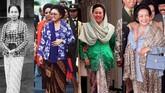 Sebagai busana nasional, kebaya merupakan representasi bangsa Indonesia yang kerap dikenakan oleh Ibu Negara dari tahun 1945 hingga saat ini.