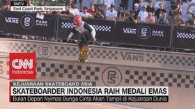 VIDEO: Skateboarder Indonesia Raih Medali Emas
