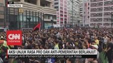 VIDEO: Aksi Unjuk Rasa Hong Kong Berlanjut