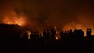 Ratusan Rumah di Pulau Sebuku Kalsel Hangus Terbakar
