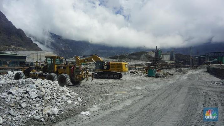 Aktivitas di tambang Grasberg open pit masih berlangsung. Operasi penambangan ditargetkan akan dihentikan pada area open pit pada triwulan III-2019.