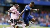 Chelsea belum berhasil meraih kemenangan musim ini setelah ditahan imbang 1-1 oleh Leicester City pada pekan kedua Liga Inggris di Stadion Stamford Bridge, London (Minggu (18/8). (AP Photo/Frank Augstein)