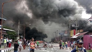 Situasi di Fakfak Papua Barat Mencekam, Pasar Dibakar