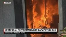VIDEO: Kebakaran di Perkampungan Padat Jatinegara