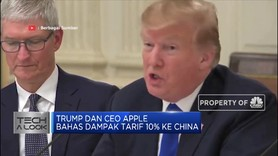 Takut Kalah Saing dengan Samsung, CEO Apple Curhat ke Trump