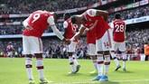 Arsenal berhasil meraih kemenangan atas Burnley pada pekan kedua Liga Inggris saat menang atas Burnley 2-1 di Stadion Etihad, Sabtu (17/8) lalu. (Yui Mok/PA via AP)