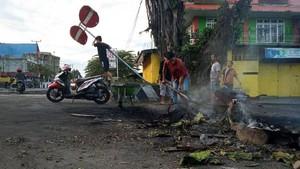 FOTO : Kondisi Manokwari Pascakerusuhan